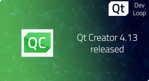 Qt Creator 4.13 released