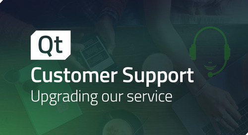Qt introduces a new customer support system