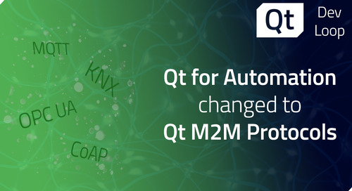 Qt for Automation changed to Qt M2M Protocols