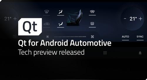 博文 | Qt for Android Automotive 技术预览版发布