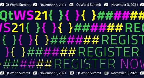 Qt World Summit 2021 – registration now open!