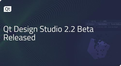 Qt Design Studio 2.2 Beta Released