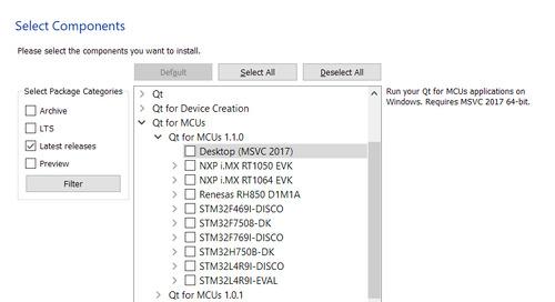 Qt for MCUs 1.1发布