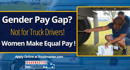 Is there a gender pay gap?  Not in the trucking industry.