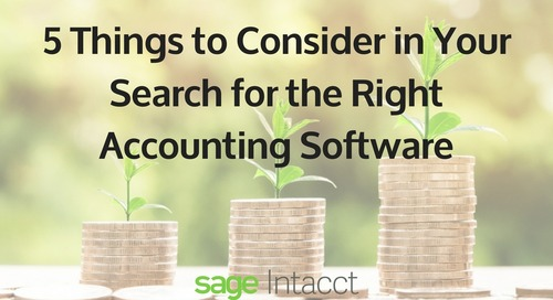 5 Things to Consider in Your Search for the Right Accounting Software