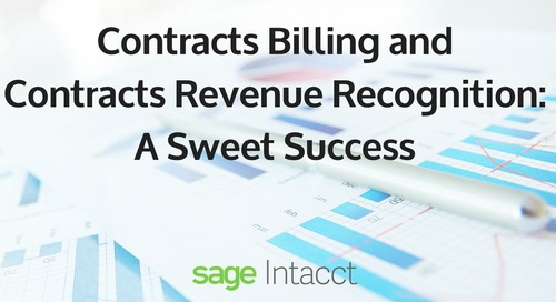 Contracts Billing and Contracts Revenue Recognition: A Sweet Success