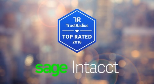 Sage Intacct Recognized by TrustRadius as a Top Software Choice