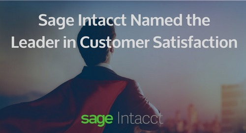 Sage Intacct is the Undisputed Leader in Customer Satisfaction