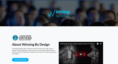 Sales Hacker & Winning by Design Partner to Educate One Million Sales Professionals by 2020