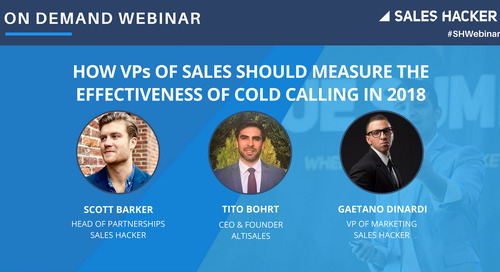 How VPs of Sales Should Measure The Effectiveness of Cold Calling in 2018
