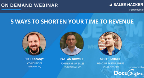 5 Ways to Shorten Your Time to Revenue