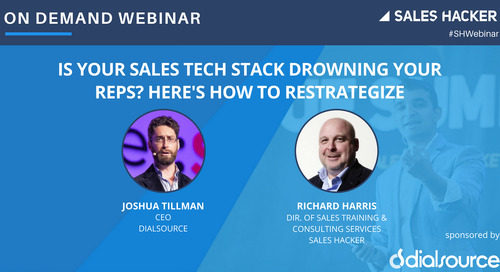 Is Your Sales Tech Stack Drowning Your Reps? Here's How to Restrategize
