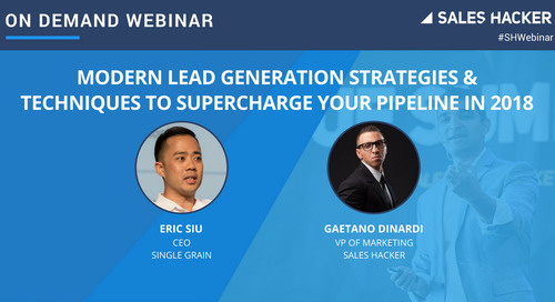Modern Lead Generation Strategies & Techniques To Supercharge Your Pipeline In 2018