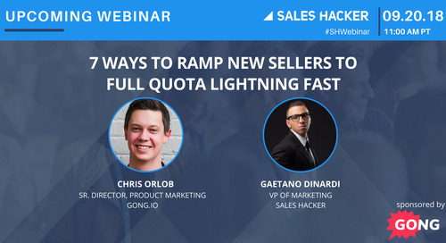 7 Ways to Ramp New Sellers to Full Quota Lightning Fast