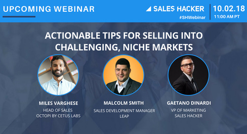 Actionable Tips For Selling Into Challenging, Niche Markets