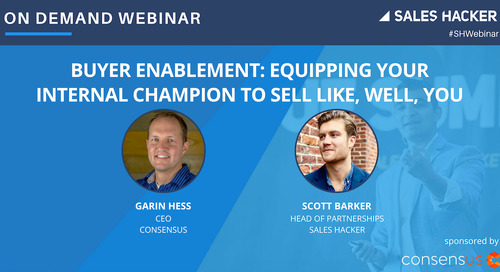 Buyer Enablement: Equipping Your Internal Champion to Sell Like You