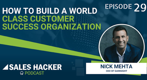 PODCAST 29: The Customer Success Organization Structure that Creates Alignment & Drives Growth w/ Nick Mehta