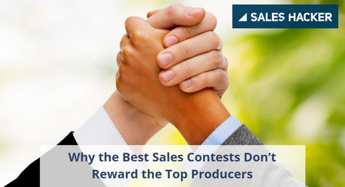 Why the Best Sales Contests Don't Reward the Top Producers