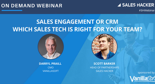 Sales Engagement or CRM: Which Sales Tech is Right for Your Team