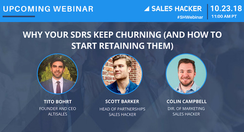 Why Your SDRs Keep Churning (And How To Start Retaining Them)