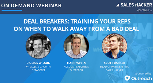 Deal Breakers: Training Your Reps on  When to Walk Away from a Bad Deal