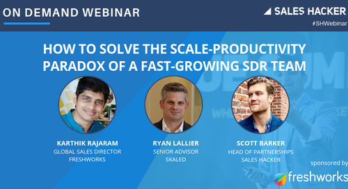 How to Solve the Scale-Productivity Paradox of a Fast-Growing SDR Team