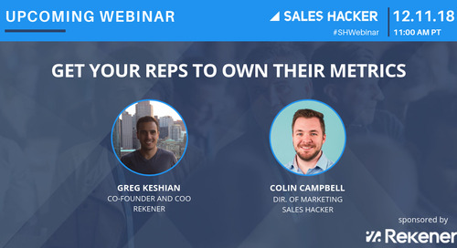 Get Your Reps To Own Their Metrics