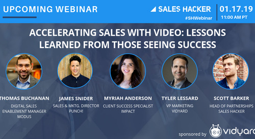 Accelerating Sales with Video: Lessons Learned from Those Seeing Success