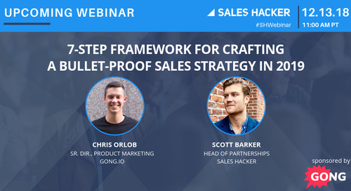 7-Step Framework for Crafting a Bullet-Proof Sales Strategy in 2019