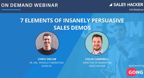 7 Elements of Insanely Persuasive   Sales Demos