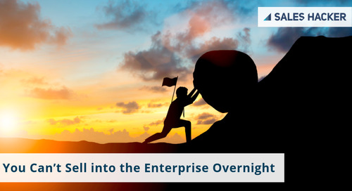 You Can't Sell into the Enterprise Overnight