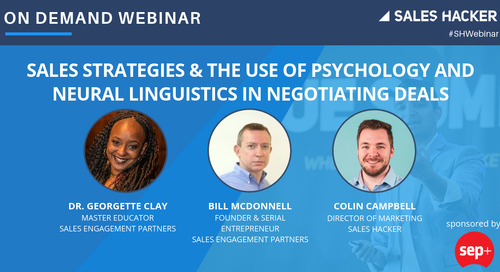 Sales Strategies & The Use Of Psychology And Neural Linguistics In Negotiating Deals