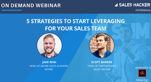 5 Strategies to Start Leveraging For Your Sales Team