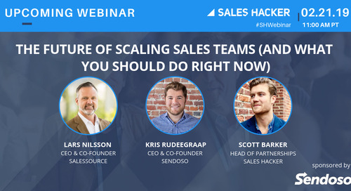 The Future of Scaling Sales Teams (and  What You Should Do Right Now)