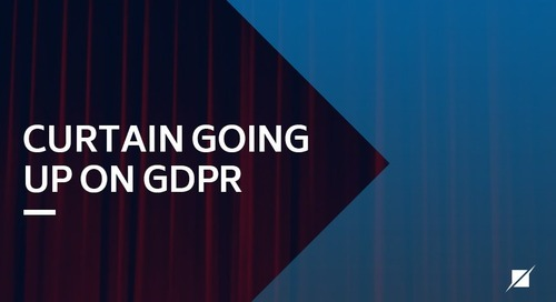 Curtain Going Up On GDPR