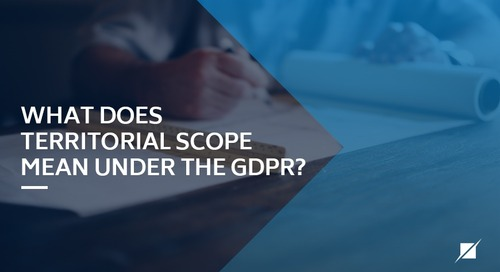 What does territorial scope mean under the GDPR?