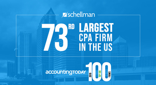 Schellman & Company Recognized as a Top 100 CPA Firm by Accounting Today