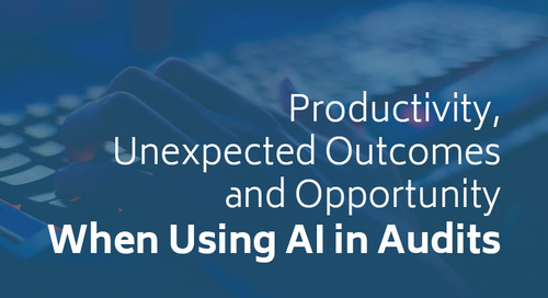 Productivity, Unexpected Outcomes and Opportunity When Using AI in Audits
