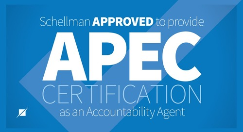 Schellman Approved to Provide APEC Certification as an Accountability Agent