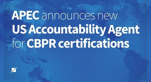APEC announces new US accountability agent for CBPR certifications