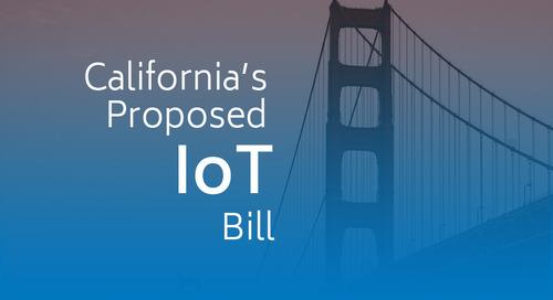 California's Proposed IoT Bill