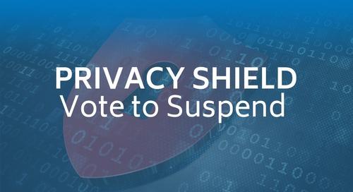 Privacy Shield: Vote to Suspend