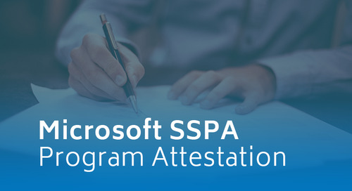 Microsoft Supplier Security and Privacy Assurance (SSPA) Program Attestation
