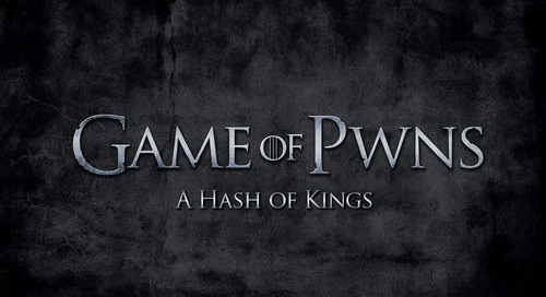 Passwords: A Game of Pwns - A Hash of Kings