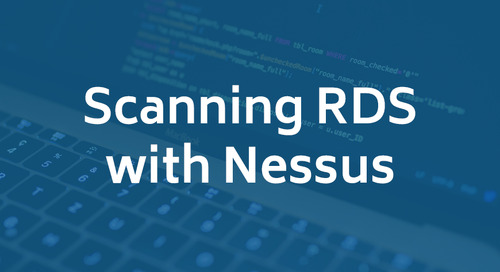 Scanning RDS with Nessus