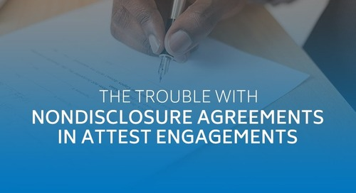 The trouble with nondisclosure agreements in attest engagements