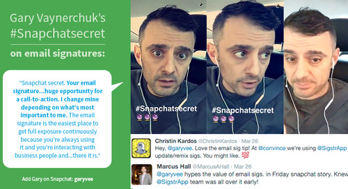 Gary Vaynerchuk's #SnapchatSecret: Email Signatures