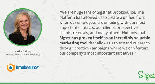 Brooksource Centrally Manages Employee Email Signatures with Sigstr
