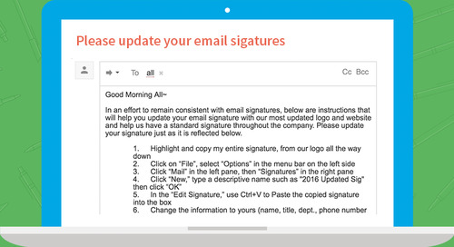 "The Dreaded ""Time to Update Your Email Signatures"" Email"