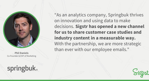 Springbuk Shares Customer Success Stories & Industry Content via Their Email Signatures